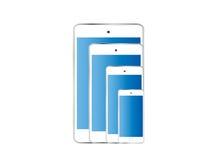 Tamanho diferente isolado do telefone cor esperta Imagem de Stock