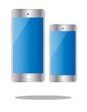 Tamanho diferente isolado do telefone cor esperta Imagens de Stock Royalty Free