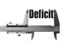 Tamanho do deficit Imagens de Stock