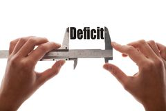 Tamanho do deficit Imagem de Stock Royalty Free