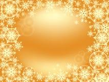 Tamanho 1024-768 do ouro do quadro do floco de neve Imagens de Stock