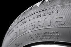 Tamanho do pneu Fotos de Stock Royalty Free
