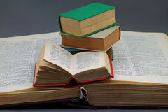 Tamanho grande, dicionários pequenos dos tamanhos. Imagem de Stock Royalty Free