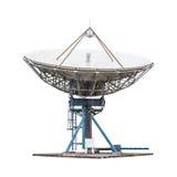 Tamanho grande do radar da antena de antena parabólica isolado no backgrou branco fotos de stock