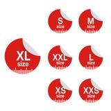 Tamanho labels1 Fotos de Stock