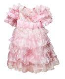 Tamanho pequeno do vestido cor-de-rosa no branco Imagem de Stock Royalty Free