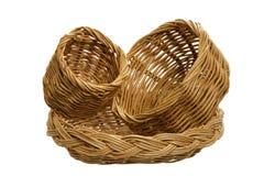 Tamanho três da cesta em um fundo branco Imagem de Stock