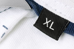 Tamanho XL fotografia de stock