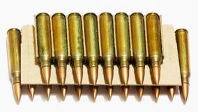 Tamanhos 5 bala do rifle de 56 milímetros Foto de Stock