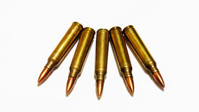 Tamanhos 5 bala do rifle de 56 milímetros Fotos de Stock Royalty Free