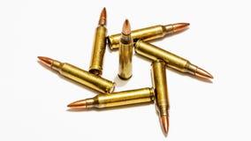 Tamanhos 5 bala do rifle de 56 milímetros Imagens de Stock