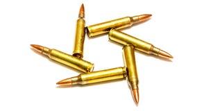Tamanhos 5 bala do rifle de 56 milímetros Fotos de Stock