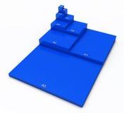 Tamanhos de papel da impressão Fotos de Stock Royalty Free