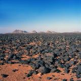 Tamanrasset 2. View over mountain-landscape near Tamanrasset in Southern Algeria stock photos