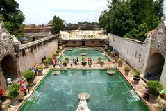 Tamansari Watercastle plats, Yogyakarta, Indonesien Royaltyfri Fotografi