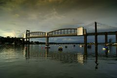 Tamar-Brücke über dem Fluss Tamar Devon Lizenzfreies Stockbild