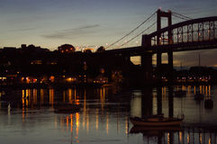 Tamar bridge night view Royalty Free Stock Photos