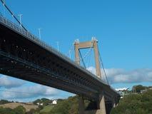 Tamar bridge perspective Stock Photo