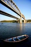 Tamar bridge, Plymouth,UK Royalty Free Stock Images