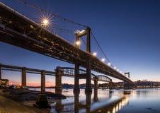 Tamar Bridges nyckel till Cornwall royaltyfria foton