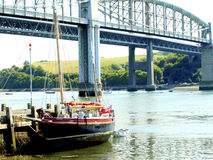 Tamar bridges and river, Cornwall. Royalty Free Stock Photos