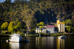 Tamar-Fluss in Launceston, Tasmanien, Australien Lizenzfreie Stockfotos