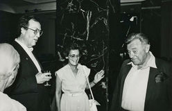 Tamar Kollek, Manfred Rommel, Liselotte Rommel, an Stock Image