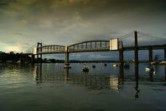Tamar most nad rzecznym Tamar Devon Obraz Royalty Free