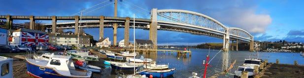 Tamar most w Saltash Cornwall Zdjęcia Stock