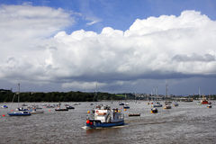 Tamar river with boats, Plymouth, UK Stock Image