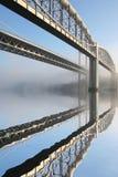 Tamar road bridge and Brunel rail Stock Image