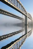 Tamar-Straßenbrücke und Brunel Schiene Stockbild