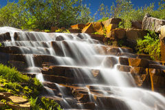 Tamarack Stepped Falls Stock Photo