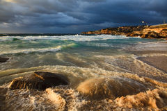 Tamarama 2 stones wave Stock Photo