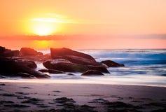 Tamarama at sunrise royalty free stock image