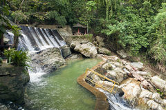 Tamaraw basin. The basin and pool at the bottom of Tamaraw Falls in the Philippines Stock Photography