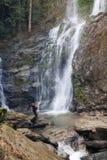 Tamaraw falls2. Tamaraw waterfall in the tropical Philippines Royalty Free Stock Photo