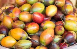 Tamarillo fruits. Heap of Tamarillo fruits on a open market Stock Images