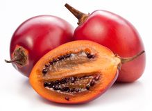 Tamarillo fruits with slice. On white background Royalty Free Stock Photo