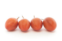 Tamarillo. Fruits of the tamarillo (tree tomato Royalty Free Stock Photography