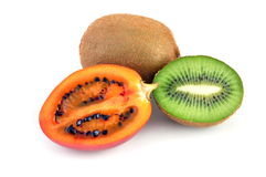 Tamarillo and kiwi fruit Royalty Free Stock Images