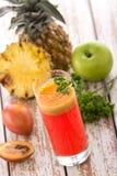 Tamarillo and pineapple mix smoothies Stock Photos