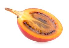 Tamarillo. Slice on white background Royalty Free Stock Images
