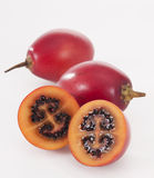 Tamarillo. Tasty and ripe tamarillo on white Royalty Free Stock Image