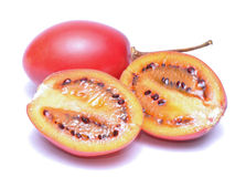 Tamarillo on white background Stock Photo