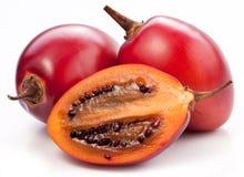 Tamarillofrüchte mit Scheibe Lizenzfreies Stockfoto
