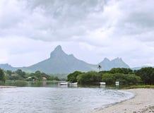 Tamarin Bay. Mauritius island landscape, Tamarin Bay Stock Photography