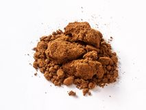 Tamarind dry powder on white background royalty free stock photos