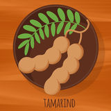 Tamarind flat design vector icon