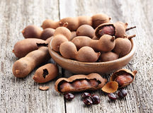 Tamarind fruit beans in closeup Stock Image